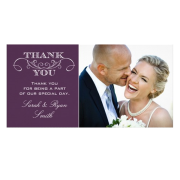 Wedding Photo Thank You Cards Personalized Photo Card