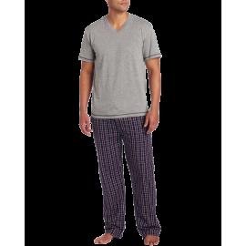 Ike Behar Men's V-Neck Top With Lounge Pant