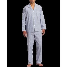 Majestic International Men's Basics Bengal Stripe Long Sleeve Pajama