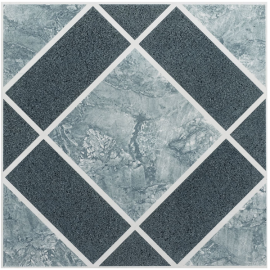 Achim Home Furnishings FTVGM30320 Nexus 12-Inch Vinyl Tile, Geo Light and Dark Blue Diamond Pattern