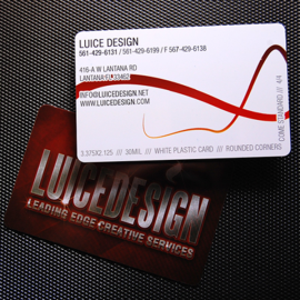 Full color plastic business cards