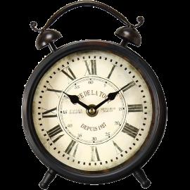 Adeco [CK0030] Antique Retro Vintage Round Decorative Iron Wall Clock French Design- Home Decor