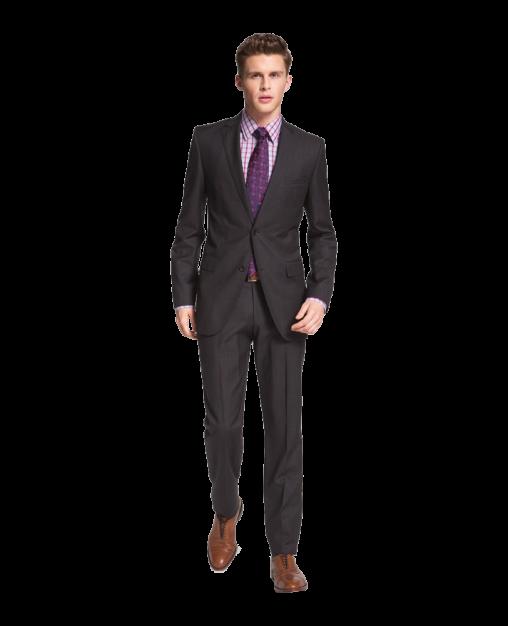 Jam-Sharp Trim Fit Grey Virgin Wool Suit