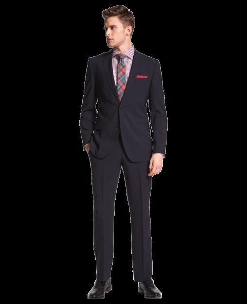 Jam-Sharp Trim Fit Navy Stretch Wool Suit