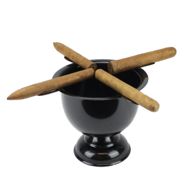 4 Stirrup Tall Stinky Cigar Ashtray - Jet Black