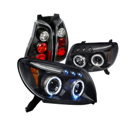 Toyota 4Runner Black Halo Projector Headlights, Altezza Tail Lights
