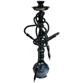 Black Hookah (isolated)