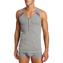 2(x)ist Men's Athletic Button Tank Top