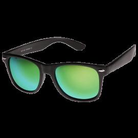 Flat Matte Reflective Revo Color Lens Large Wayfarers Style Sunglasses - UV400