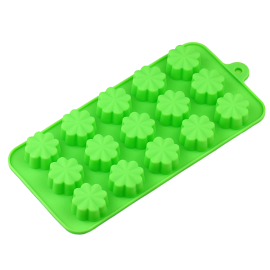 15-Cavities Four Leaf Clover Silicone Cake Mold Cake Pan Handmade Biscuit Mold(1)