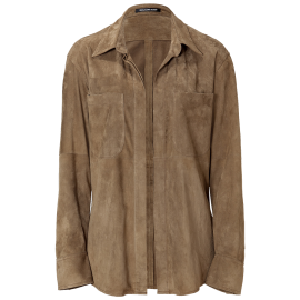 Buttonless Suede Jacket