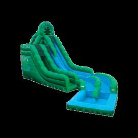 20' Emerald Ice Dual Lane Water Slides