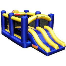 Aqua Sports Technology Racing Slide and Slam Bounce House