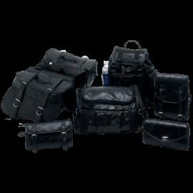 7pc Genuine Buffalo Leather Motorcycle Luggage Set