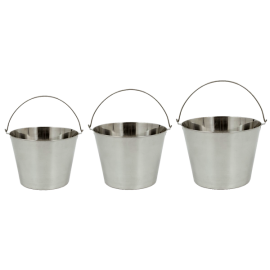 3 Piece Stainless Steel Beverage Bucket Set