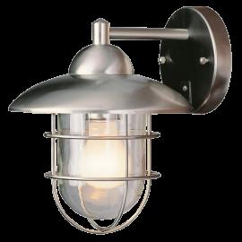 Trans Globe Lighting 1 - Light Outdoor Stainless Steel Wall Lantern