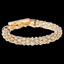 Anne Klein Crystal Glass Tubular Pave Bracelet