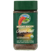 Mount Hagen Organic Freeze Dried Coffee Decaf 3.53 Ounce (Pack of 6)