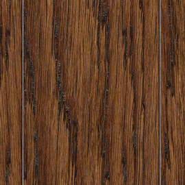 Hand Scraped Distressed Montecito Oak 3-8 in. x 3-1-2 in. and 6-1-2 in. x 47-1-4 in. Length Click Lock Hardwood Flooring