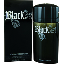 Black Xs By Paco Rabanne For Men Eau De Toilette Spray 3.4-Ounce Bottle