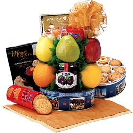 Cookie Carnival Fruit Gift Basket