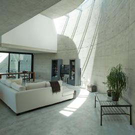 Interior modern house in beton