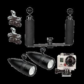 BigBlue Underwater LED Light System Kit for GoPro Action Video Camera