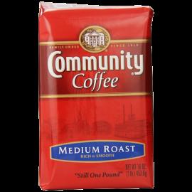 Community Coffee Premium Ground Coffee Medium Roast 16 Ounce (Pack of 10)