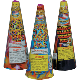 World Class Fireworks Cone Fountains