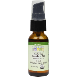 Aura Cacia Organic Natural Skin Care Restoring Rosehip Oil with Vitamin E