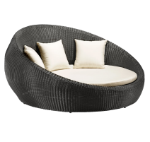 Anjuna Bed in Chocolate - Zuo Modern