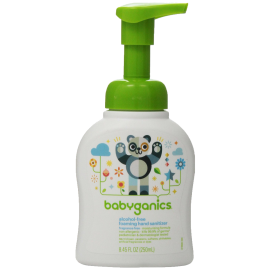 Babyganics Alcohol-Free Foaming Hand Sanitizer Fragrance Free 8.45oz Pump Bottle