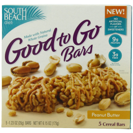 South Beach Diet Good To Go Cereal Bar Peanut Butter 1.23 Ounce 5-Count (Pack of 8)