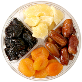 Four Section Dried Fruit Platter