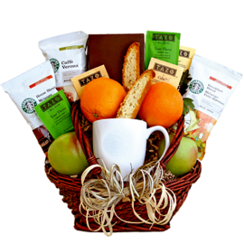 Fruit & Coffee Gift Basket