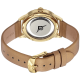 Gold-Layered Watch with Champagne Leather Band