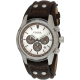 Watch with Genuine Brown Leather Strap
