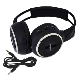 One Two Channel Folding Adjustable Universal Rear Entertainment System Infrared Headphone