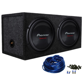 Package (2) Pioneer TS-W310D4 12 2800 Watt Dual 4-Ohm Car Audio Subwoofers