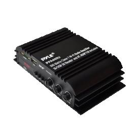 Pyle PFA400U 100-Watt Class-T Hi-Fi Audio Amplifier with USB SD Reader and AC Adapter