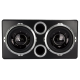 VM Audio Dual 12 Vented Port 2000 Watt Sub Car Stereo Box Bass Package w-Amp