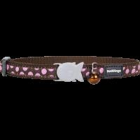 Cat Collar Pink Spots Brown