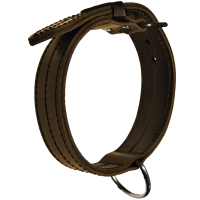Center D-Ring 2 Leather Collar