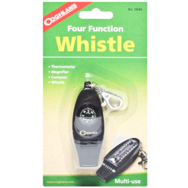 Four Function Whistle With Thermometer_Magnifier & Compass