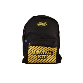 Black Backpack w_-Survival Kit- Imprint