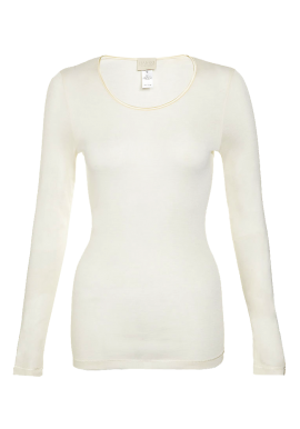 Pure Silk Long Sleeve Top