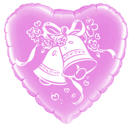 Wedding Bells 18'' Foil Balloon