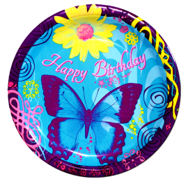 Butterfly Birthday Lunch Plates