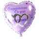 Congratulations on your Engagement Foil Heart Helium Balloon