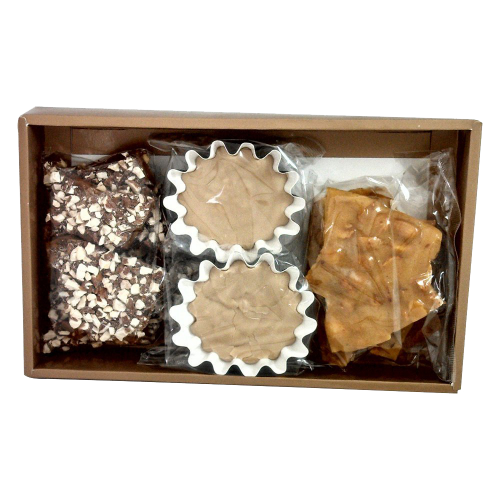 Bacon Flavored Gourmet Candy In A Gift Box One Pound (453g) Maple Bacon Fudge Toffee & Peanut Brittle Candy